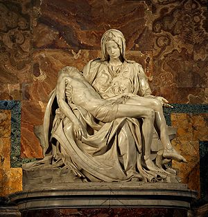 Michelangelo's Pieta, which I would dearly love to see one day.