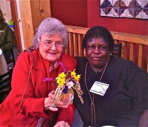 Imogene and Barbara, who brought laughter and delight and joy and soul with them. Oh my! What blessings!