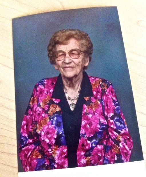 my beautiful grandma, Gladys Hanson