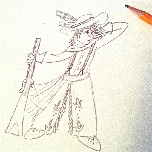 Colton's doodle of a Metis boy