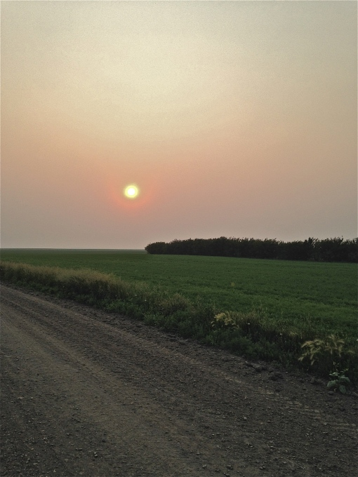 Smoke from forest fires way up north made for a hazy day.