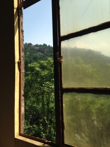 Mountain view from the classroom window at Bread of Life School